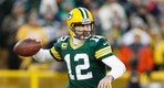 Jan 8, 2017; Green Bay, WI, USA;  Green Bay Packers quarterback Aaron Rodgers (12) throws a pass against the New York Giants during the first half in the NFC Wild Card playoff football game at Lambeau Field. Mandatory Credit: Jeff Hanisch-USA TODAY Sports - RTX2Y0BN