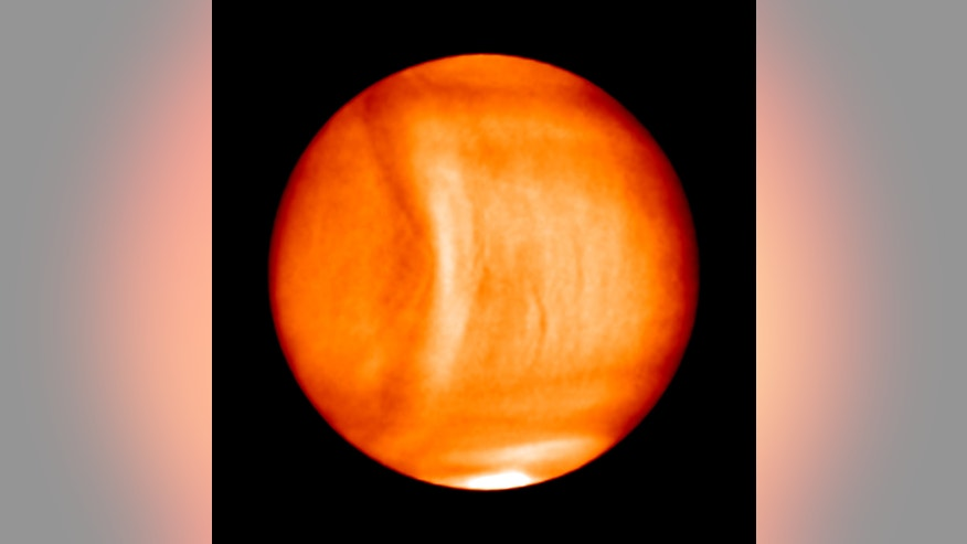 A large, stationary wave spotted on Venus by Japan's Akatsuki (Planet-C) spacecraft.