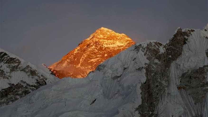 In this Nov. 12, 2015, file photo, Mt. Everest is seen from the way to Kalapatthar in Nepal. (AP Photo/Tashi Sherpa, File)
