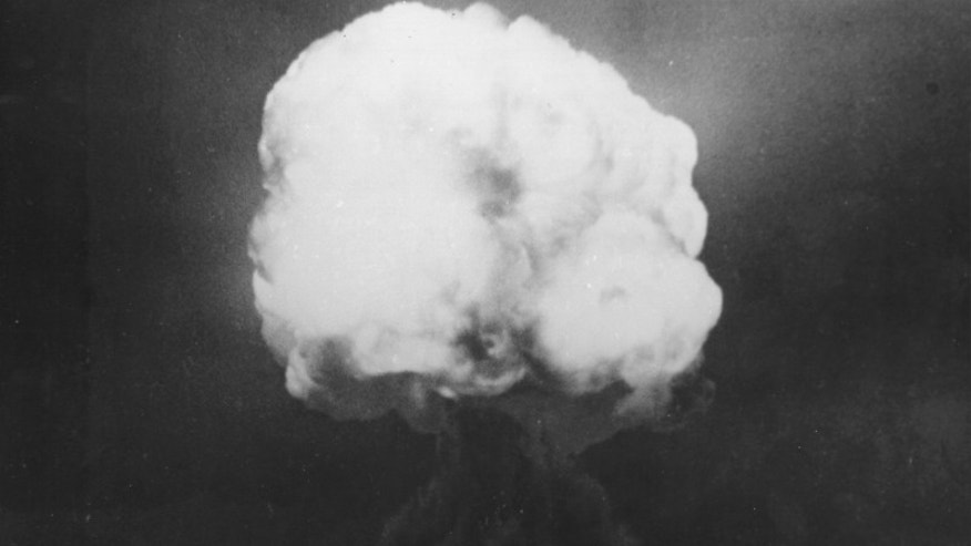 The first-ever nuclear explosion occurred on July 16, 1945 at the Trinity test site in New Mexico. This image shows the Trinity fireball 15 seconds after detonation.
