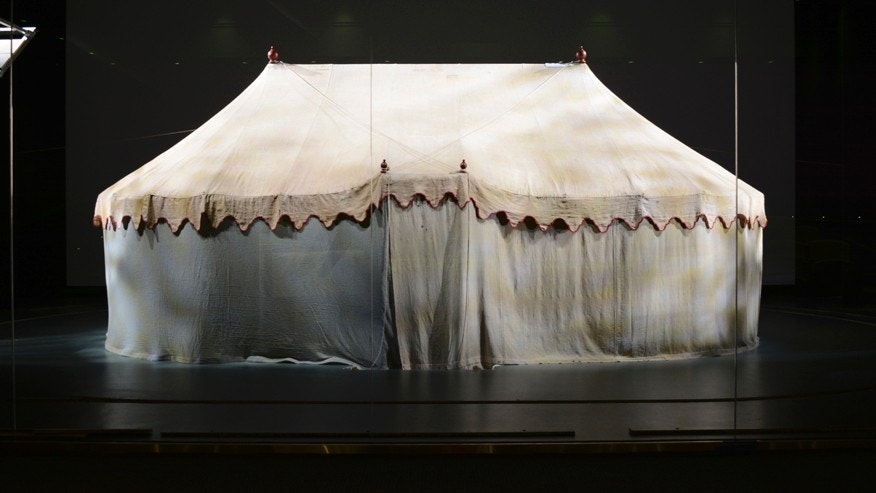 General George Washington's Revolutionary War field tent on display at the Museum of the American Revolution (Courtesy of the Museum of the American Revolution).