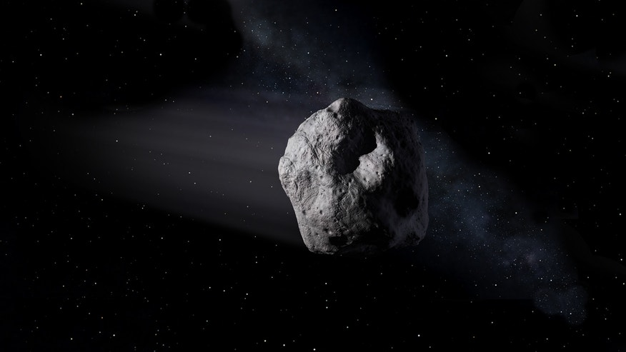 Artist's impression of a near-Earth asteroid.