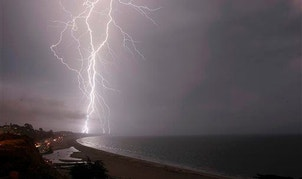 Lightning is more powerful over oceans