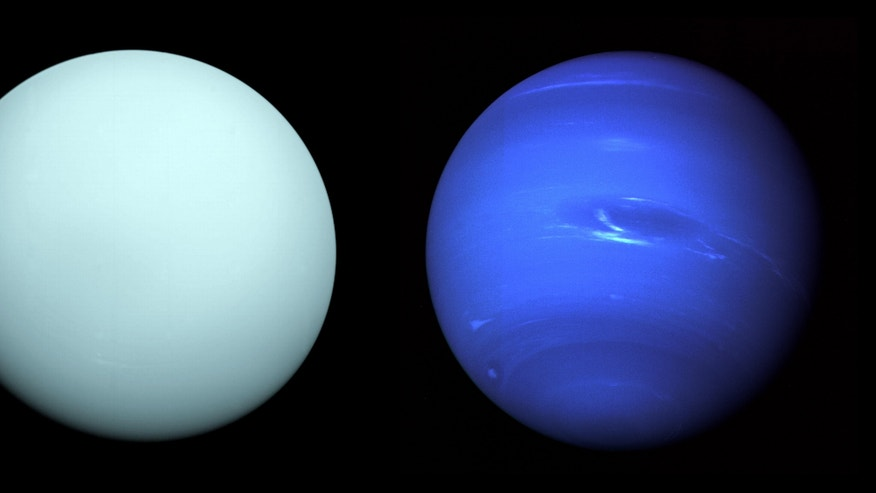 Voyager 2's views of Uranus and Neptune as the probe flew past in the 1980s. New NASA missions could further explore the gas worlds.