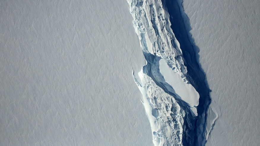 One of the world's largest icebergs is about to break off Antarctica