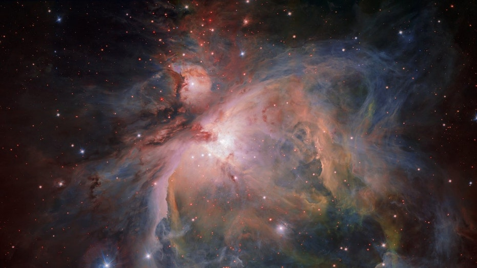 The European Southern Observatory's VLT Survey Telescope used its OmegaCAM to capture this detailed view of the Orion Nebula and its collection of young stars. The object is 1,350 light-years from Earth and hosts one of the closest stellar nurseries.