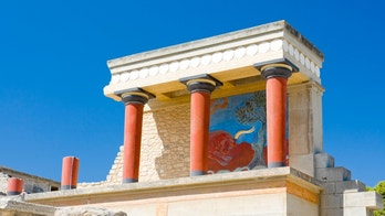 North gate at Knossos palace, Crete, Greece.