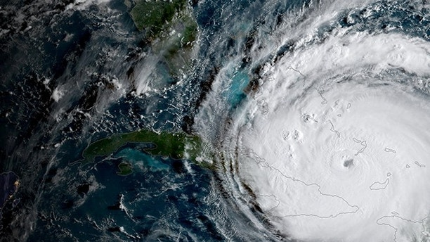 Hurricane Irma is driving toward Florida passing the eastern end of Cuba in this NASA's GOES-16 satellite image taken at about 0800 EDT on September 8, 2017.    Courtesy NOAA National Weather Service National Hurricane Center/Handout via REUTERS     ATTENTION EDITORS - THIS IMAGE WAS PROVIDED BY A THIRD PARTY     TPX IMAGES OF THE DAY - RC15ABBCAB90