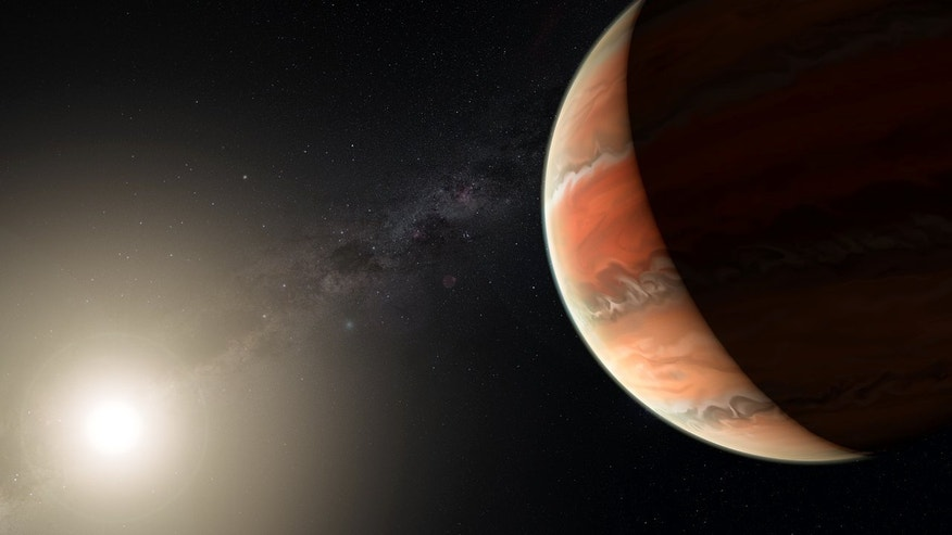 Giant, Scorching-Hot Alien Planet Is Darker Than Asphalt