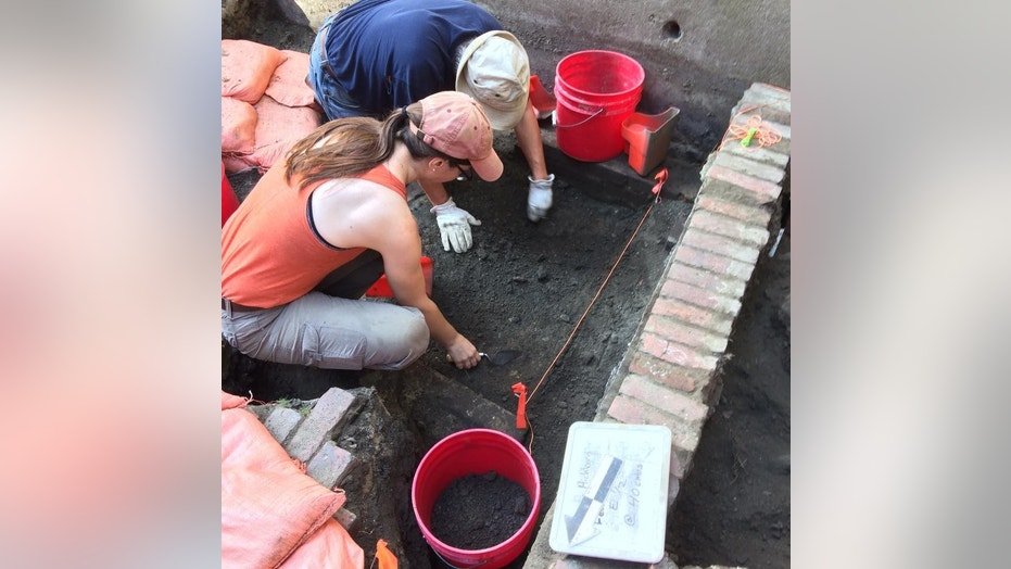 The excavation of the outhouse next to the Pierce-Hichborn House in Boston.
