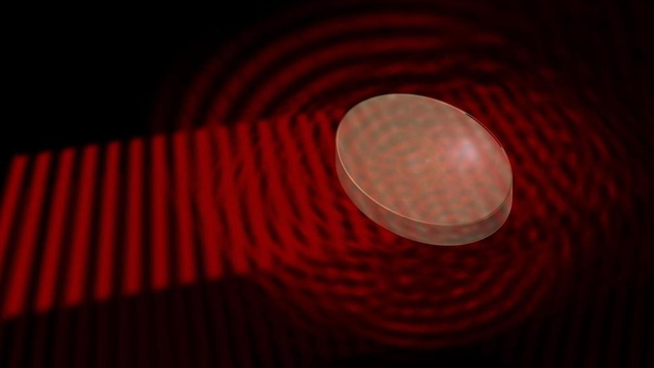 A material with random irregularities scatters an incident light wave into all directions.