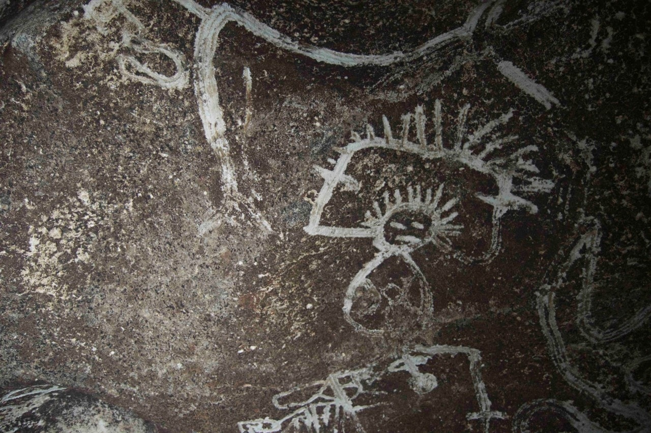 Mysterious rock art uncovered in caves on uninhabited Caribbean island