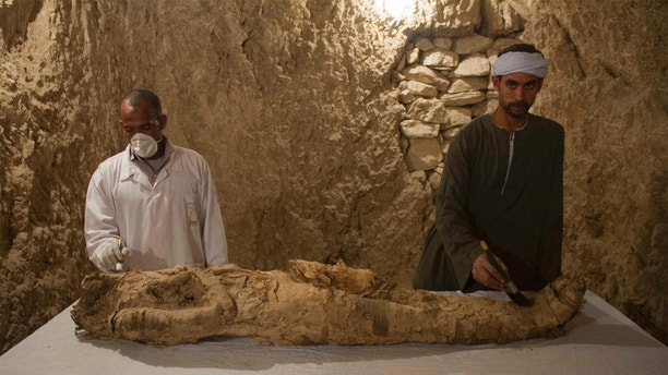 Mummy discovered in unexplored Egyptian tomb