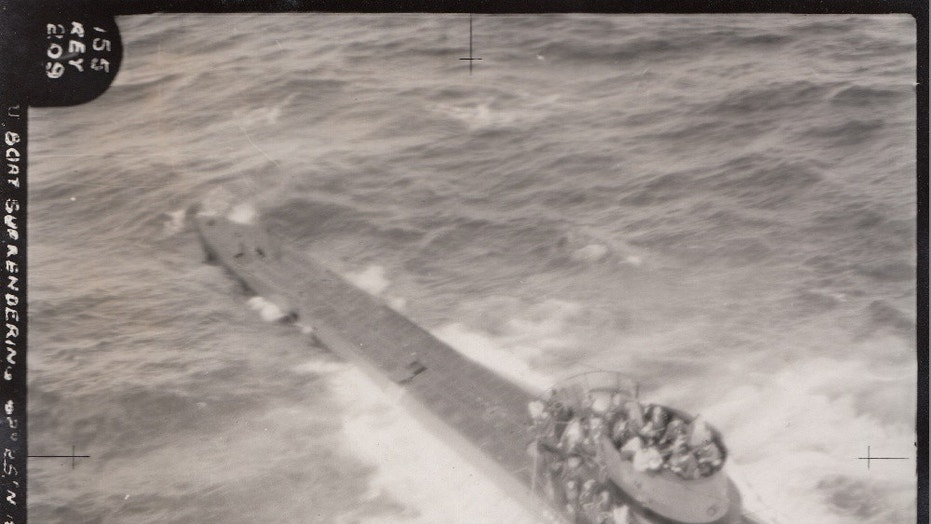 Captured World War II German U-boat revealed as dramatic pictures surface