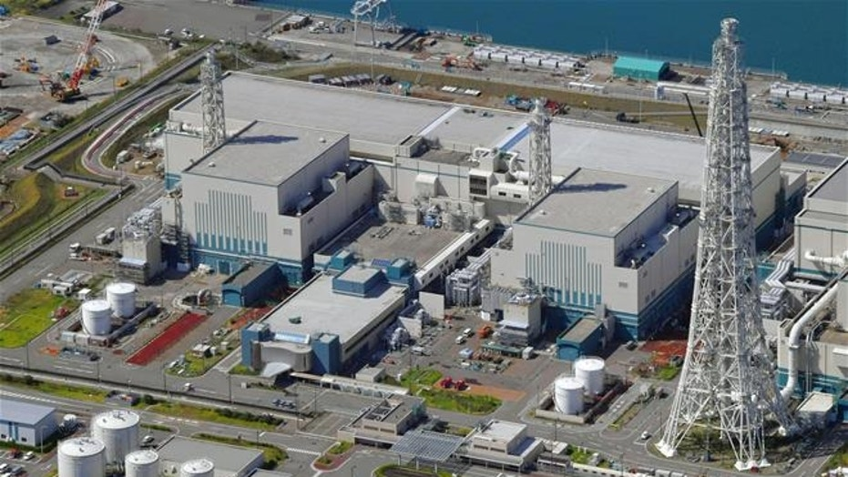 This Sept. 30, 2017 aerial photo shows the reactors of No. 6, right, and No. 7, left, at Kashiwazaki-Kariwa nuclear power plant, Niigata prefecture.