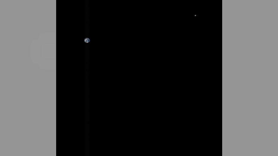 NASA's OSIRIS-REx spacecraft, which is currently on its way to the asteroid Bennu, captured this color composite image of Earth and the moon on Oct. 2, 2017.