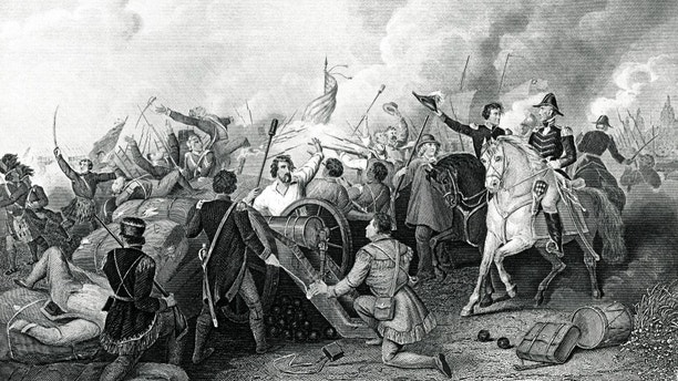 Engraving From 1881 Commemorating The Battle Of New Orleans In 1815 Which Was The Final Major Battle Of The War Of 1812.