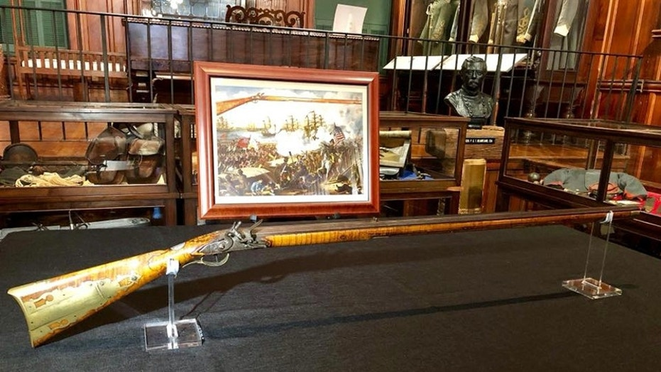 The Flintlock rifle used in the Battle of New Orleans (Louisiana State Police)