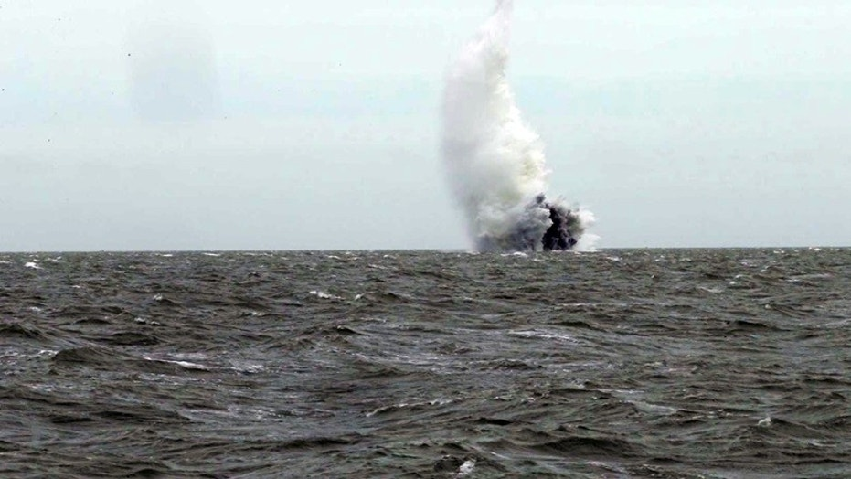 WATCH: Royal Navy detonates 1100-pound World War II bomb found in the River Thames