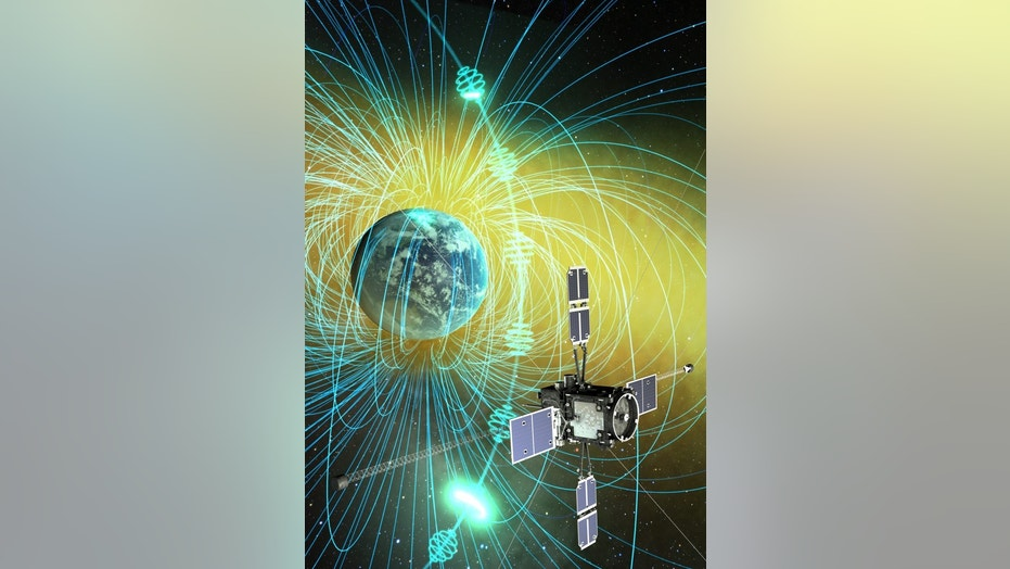 Japan's Arase spacecraft (formerly called ERG) observed chorus waves and scattered electrons in Earth's magnetosphere, the origin of pulsation auroras. The scattered electrons precipitated into the atmosphere, resulting in auroral illumination.