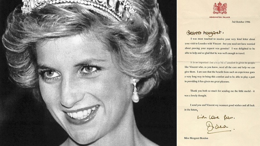 Princess Diana's letters to AIDS victim surface, up for auction
