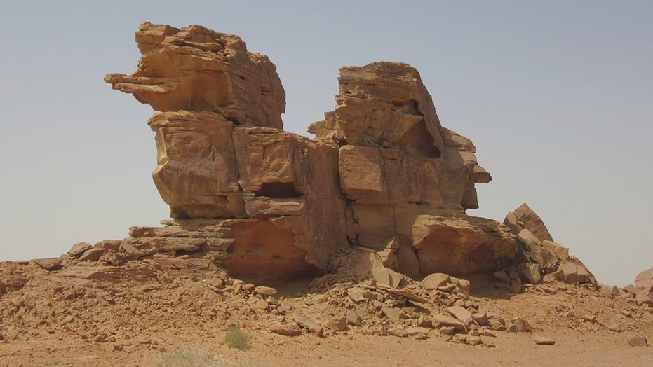 "A mysterious, ancient camel ""sculpture"" discovered in Saudi Arabia."