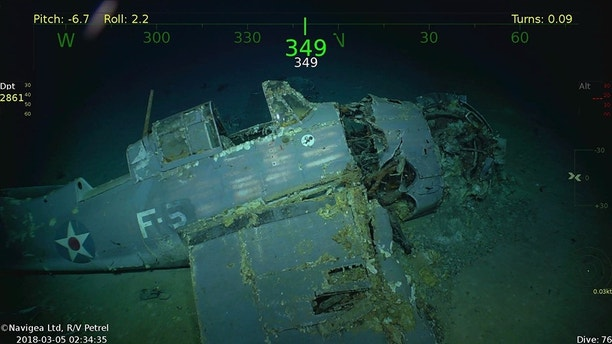 Wreckage from the USS Lexington (CV-2) Located in the Coral Sea 76 Years after the Aircraft Carrier was Sunk During World War II. (PRNewsfoto/Paul G. Allen)