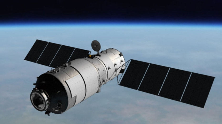 An artist's Illustration of China's Tiangong-1 space lab, which is expected to fall back to Earth between March 30 and April 2, 2018.