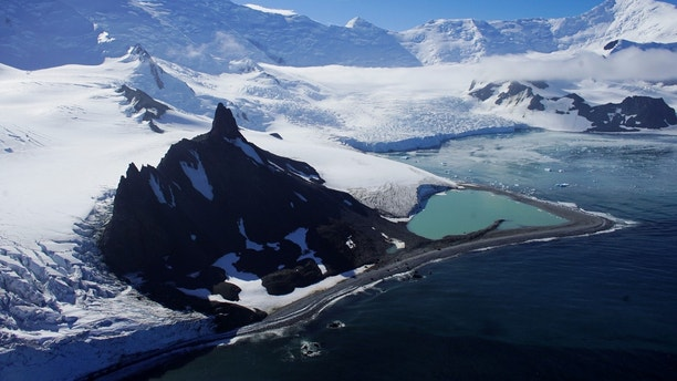 """Glaciers are seen in Half Moon Bay, Antarctica, February 18, 2018. REUTERS/Alexandre Meneghini    SEARCH """"ANTARCTICA"""" FOR THIS STORY. SEARCH """"WIDER IMAGE"""" FOR ALL STORIES. - RC1162B874C0"""