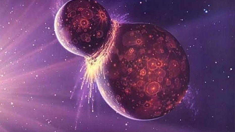The moon may have formed when a large protoplanet slammed into the forming Earth. New research suggests that collision was energetic enough to fully scramble the worlds' materials.