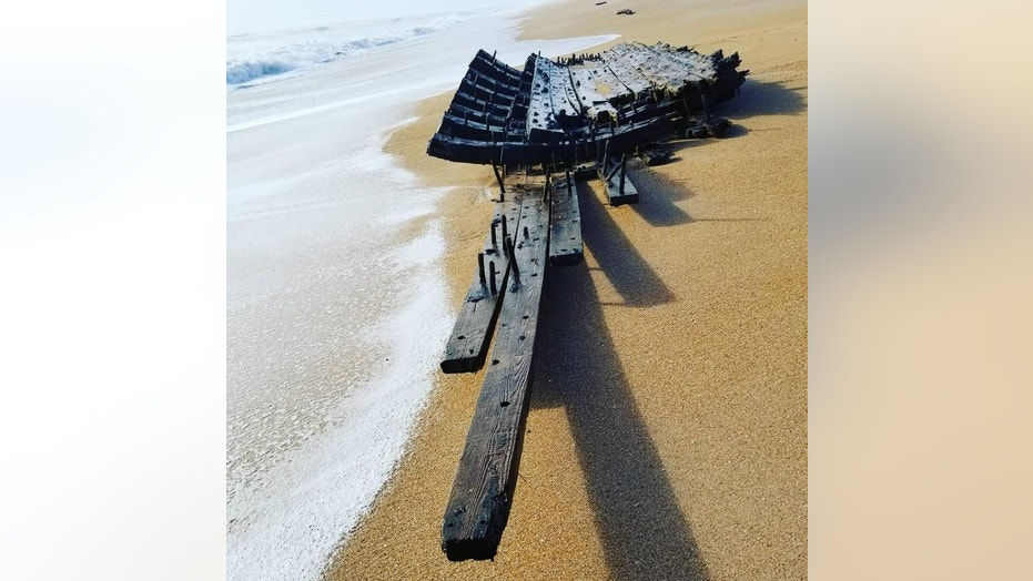 The wreckage was later determined to be a well-preserved section of a wooden ship's hull.