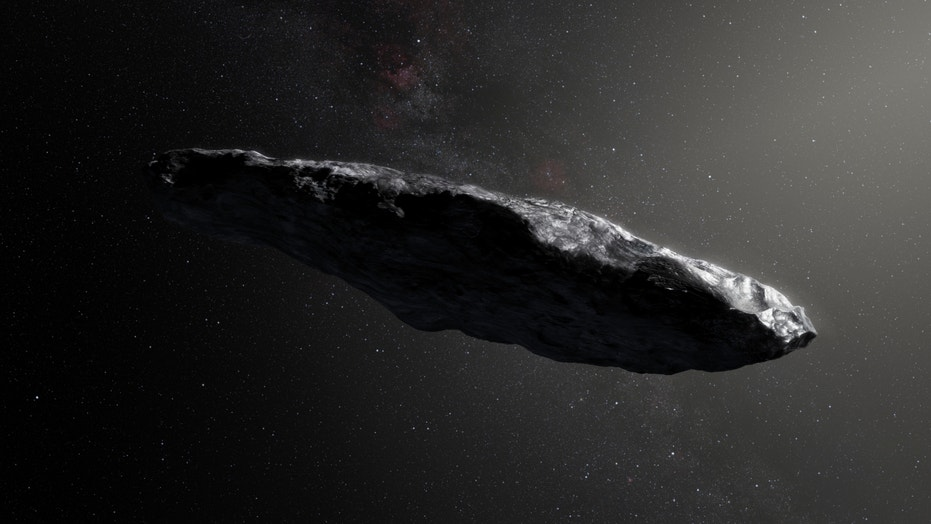 Illustration of an artist of the interstellar object, known as