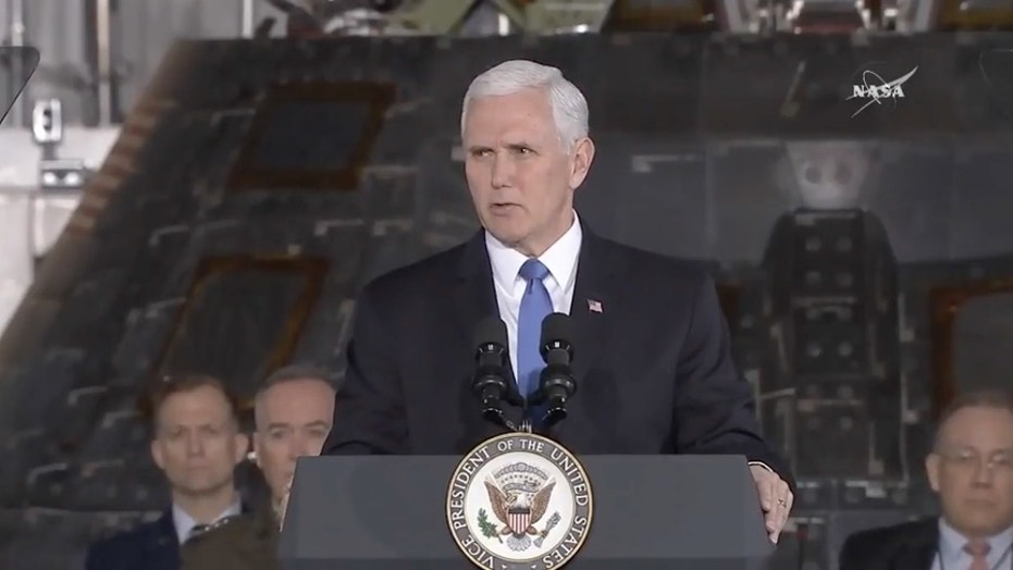 Vice President Pence speaking at the second National Space Council meeting in February, is expected to make a space policy announcement in a speech next Monday in Colorado.