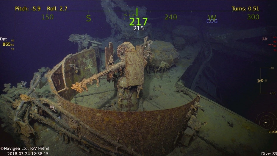 The USS Helena is the latest wreck to be discovered by Paul Allen's expedition team (Navigea Ltd, R/V Petrel)