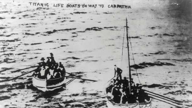 Titanic lifeboats on their way to the Carpathia following the sinking of the Titanic April 15, 1912. The Titanic was considered unsinkable but foundered in frigid Atlantic waters off Newfoundland after striking an iceberg. About 700 passengers survived in lifeboats, but some 1,500 perished in the sinking. REUTERS/George Grantham Bain Collection/Library of Congress/Handout (ATLANTIC OCEAN - Tags: DISASTER MARITIME) FOR EDITORIAL USE ONLY. NOT FOR SALE FOR MARKETING OR ADVERTISING CAMPAIGNS. THIS IMAGE HAS BEEN SUPPLIED BY A THIRD PARTY. IT IS DISTRIBUTED, EXACTLY AS RECEIVED BY REUTERS, AS A SERVICE TO CLIENTS - GM1E84B0ENT01