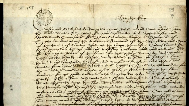 The 16th century draft letter thought to be dictated by blood-thirsty Henry VIII which demanded the brutal death of an abbot is set to go on display to the public in a Cheshire museum. See Ross Parry story RPYHENRY; A 16th century draft letter demonstrating King Henry VIII's infamous temper goes on display at Norton Priory from the 5th May. The correspondence is believed to have been written under dictation from Henry to a secretary. It responded to the news that the canons and local people had stopped his men from closing the Abbey during the Dissolution of the Monasteries in 1536. Evidently enraged, the King first demands that the Abbot of Norton Abbey be hung drawn and quartered with the body parts displayed around the country. Intriguingly, this has been crossed out and replaced simply with, 'hung'. Why Henry changed his mind remains a mystery, although research into this and other letters provides a number of possibilities.