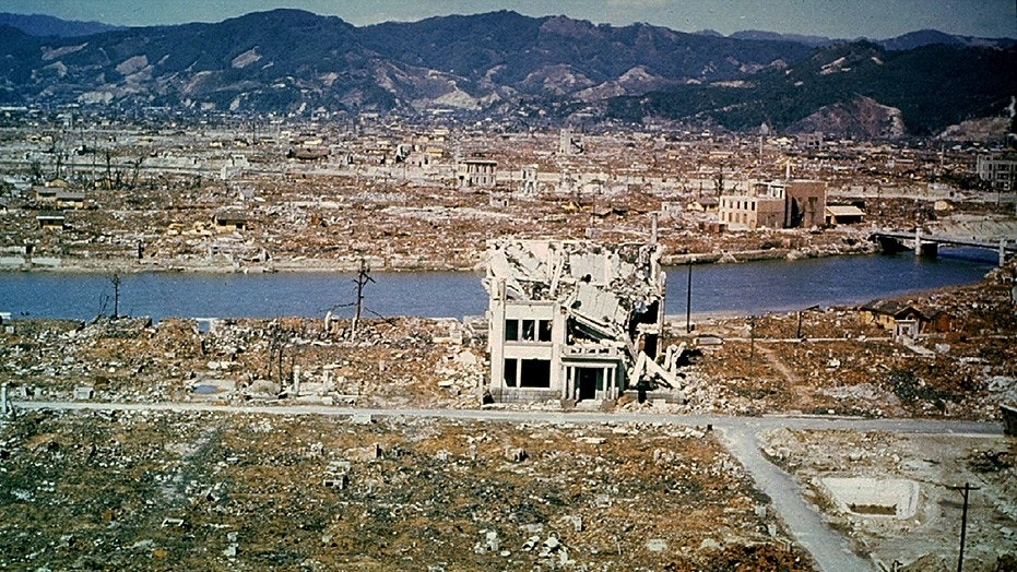 The city of Hiroshima, Japan, was bombed by the United States in 1945.