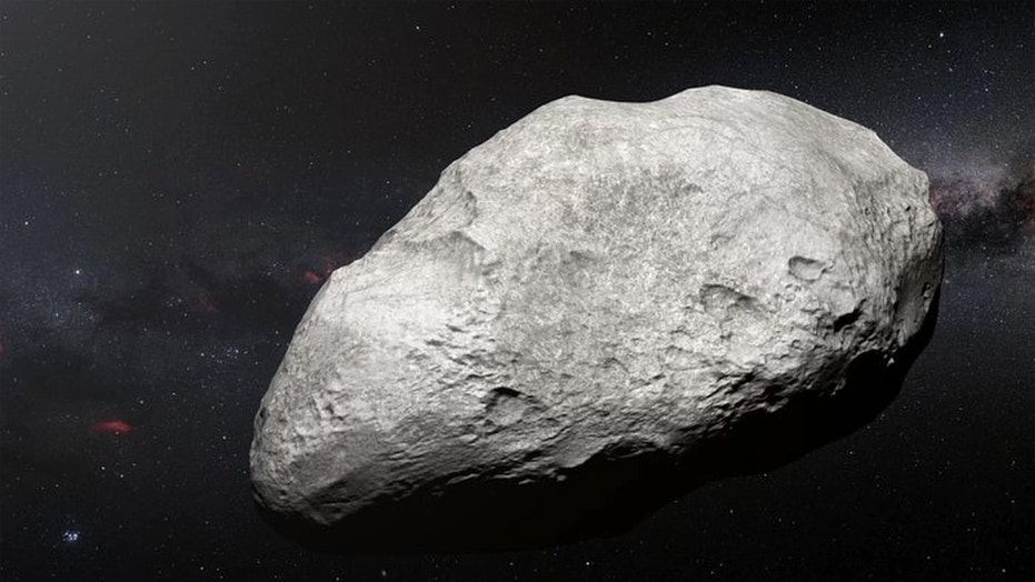 An artistic representation of the exiled asteroid 2004 EW95, whose inner solar system origins confirm theories about the system's early days. Credit: ESO/M. Kornmesser