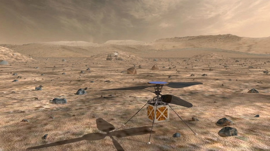 NASA's Mars Helicopter, a small autonomous rotorcraft, will explore Mars with the 2020 rover as a technology demonstration for heavier-than-air vehicles on the Red Planet.  (NASA/JPL-Caltech)