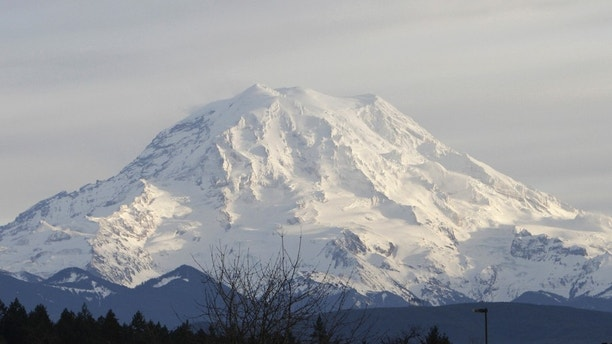A view of Mount Rainier in Washington state January 1, 2012. A park ranger was killed by a gunman on Sunday after she stopped his vehicle at a roadblock shortly after another ranger tried to stop the same car about a mile away, park spokesman Kevin Bacher said in a statement.  Authorities have closed the park on the west side of the snow-capped Cascade mountain range