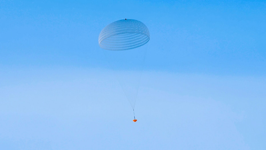 A prototype for a giant 115-foot (35 meters) parachute for the European Space Agency's ExoMars rover has passed its first drop test from a helicopter.