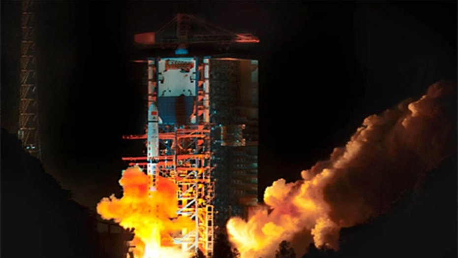 China's Queqiao relay satellite for the country's Chang'e 4 mission to the far side of the moon launched into space atop a Long March 4C rocket on Monday, May 21, 2018 Beijing Time (Sunday, May 20 EDT). Credit: China Aerospace Science and Technology Corporation