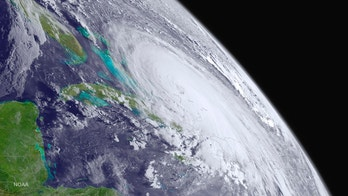 Hurricane Joaquin is seen over the Bahamas in the Atlantic Ocean in an image from the NOAA GOES West satellite taken at 08:00 ET (12:00 GMT) October 1, 2015.  Joaquin, the third hurricane of the 2015 Atlantic season, intensified into a major Category 3 storm on a scale of 1 to 5, with maximum sustained winds of 120 miles per hour (195 kph).  REUTERS/NOAA/Handout via Reuters   FOR EDITORIAL USE ONLY. NOT FOR SALE FOR MARKETING OR ADVERTISING CAMPAIGNS - TM3EBA10UBG01