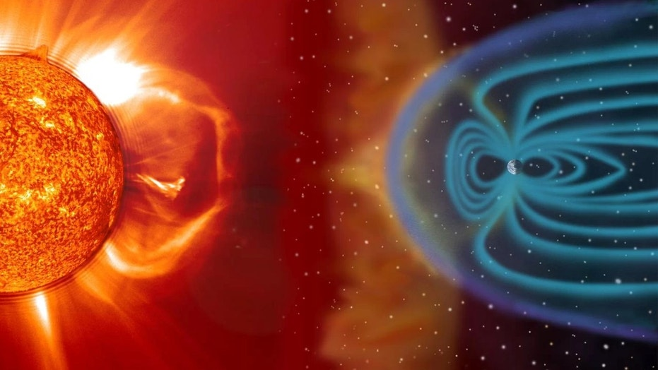 Earth's magnetic field slices through harsh solar winds like a ship cruises through water. Scientists might finally know how. Credit: NASA