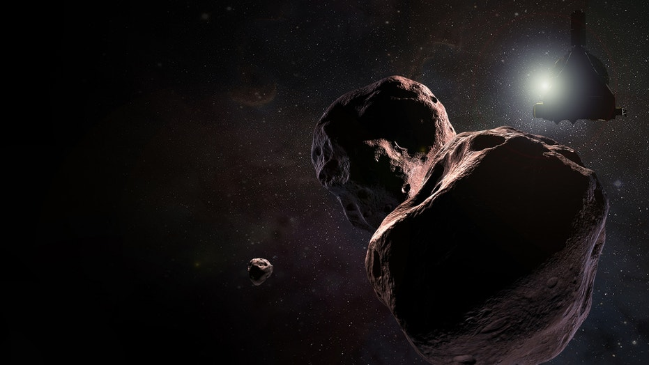 An artist's interpretation of the New Horizons encounter with Ultima Thule