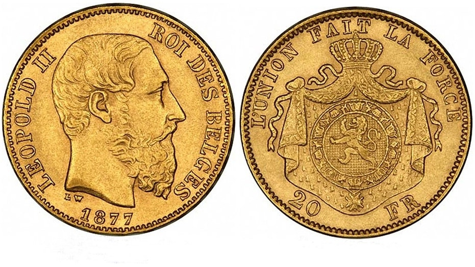 King Leopold II coin