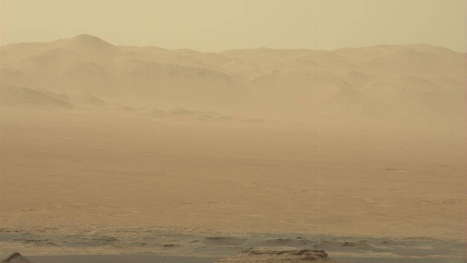 Dust hangs in the Martian air in this photo taken by NASA's Curiosity rover on June 2, 2018.