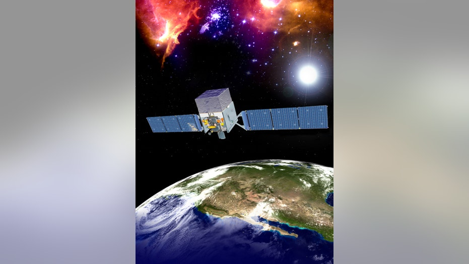 An artist's impression of the Fermi Gamma-Ray Space Telescope.