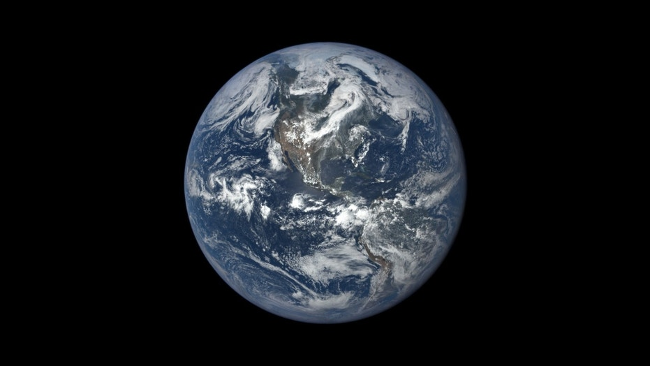 This image, taken in 2015, shows Earth as seen by NASA's Earth Polychromatic Imaging Camera (EPIC), aboard NOAA's Deep Space Climate Observatory (DSCOVR) spacecraft. Credits: NASA