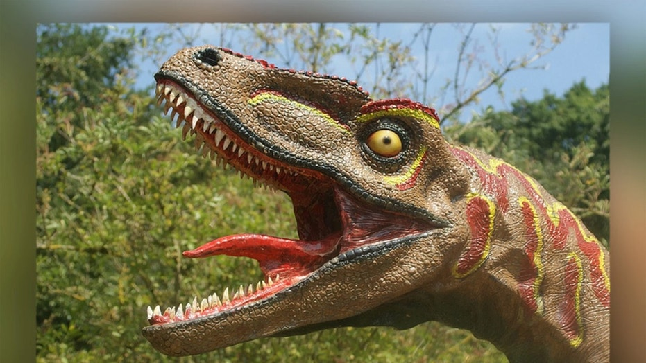 Dinosaur reconstructions at museums and theme parks often show the animals with their tongues wildly waving — a feature that is now thought to be incorrect. Credit: Spencer Wright